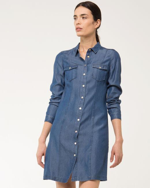 Robe chemise bleue Biguine (1) - 1-2-3