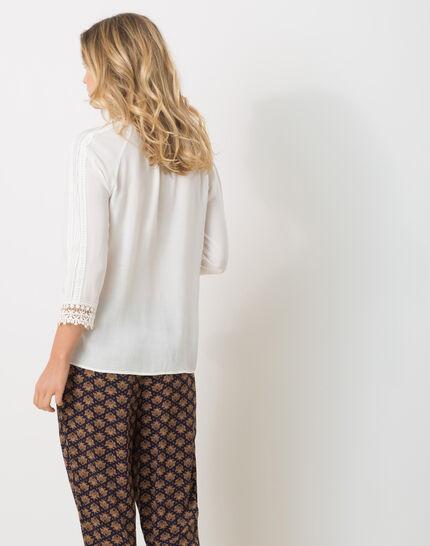 Emma ecru blouse with lace (4) - 1-2-3