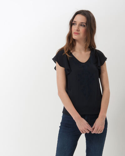 Naim navy blue T-shirt with embroidery (1) - 1-2-3