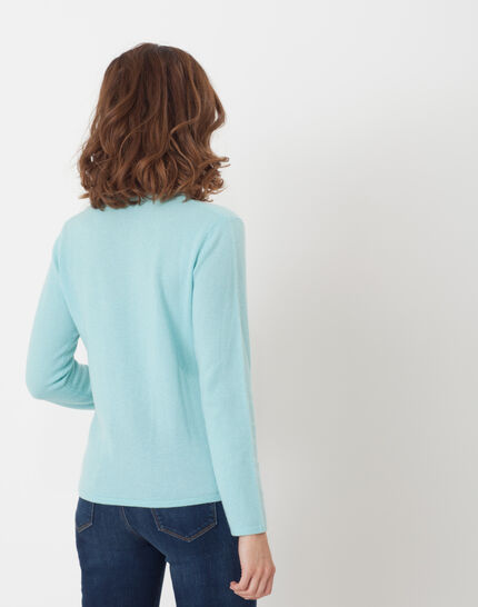 Heart turquoise cashmere sweater (4) - 1-2-3