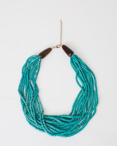 Wasabi beaded blue ethnic necklace (1) - 1-2-3
