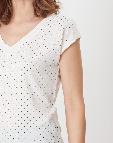 Nolita ecru T-shirt with polka dots (5) - 1-2-3