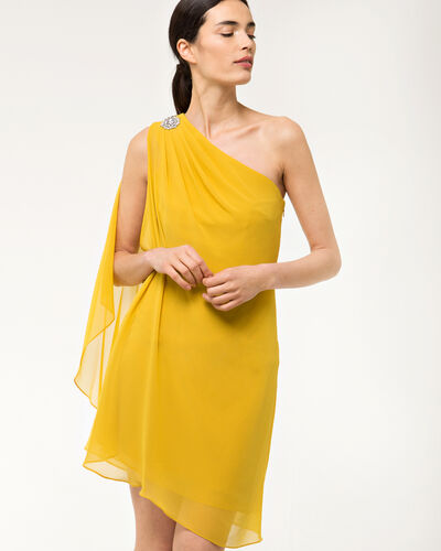 Féline one-shoulder yellow dress (2) - 1-2-3