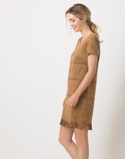 Boréal suede-style camel dress (4) - 1-2-3