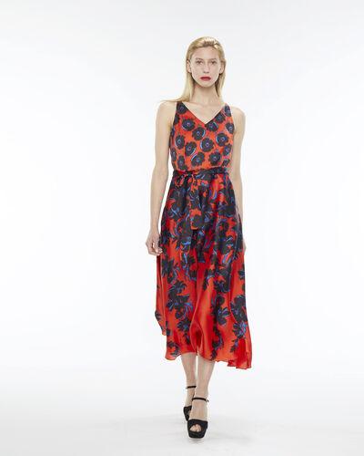 Robe longue rouge imprimé fleuri Firmament (1) - 1-2-3