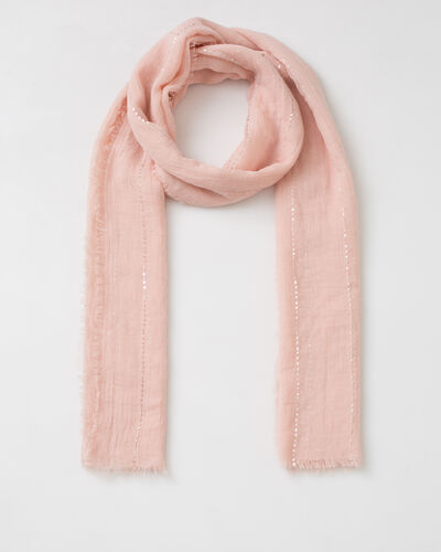 Safir sequined pale pink stole (1) - 1-2-3