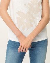 Tee-shirt écru imprimé noopsy ecru.