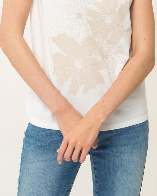 Tee-shirt écru imprimé Noopsy (1) - 1-2-3