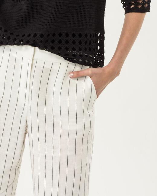 Pantalon rayé en lin Rainbow (1) - 1-2-3