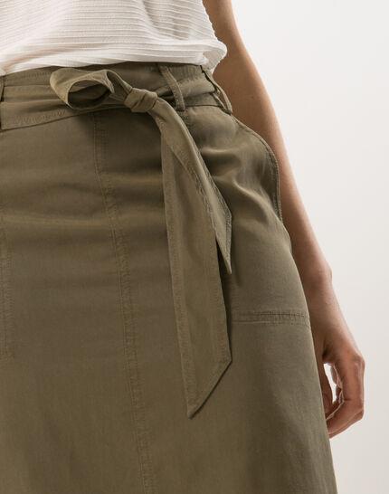 Dolce khaki skirt lyocell (5) - 1-2-3