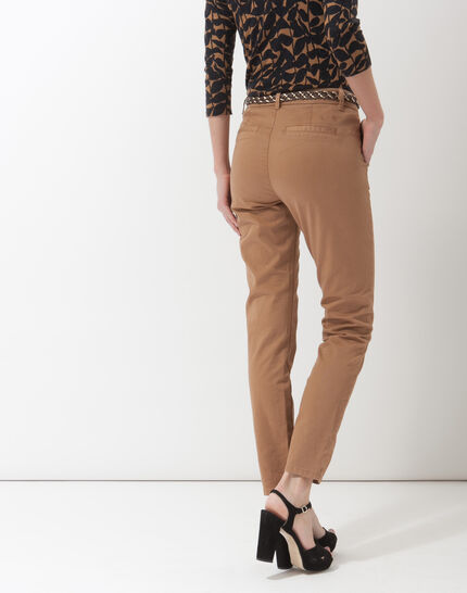 Denis 7/8 length camel trousers with large combat-style pockets (4) - 1-2-3