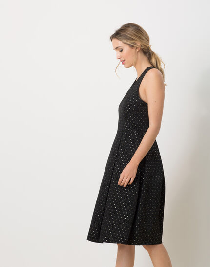Robe noire en ottoman Felicity (3) - 1-2-3