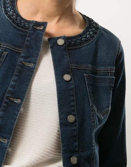 Uma denim jacket with braided collar (5) - 1-2-3