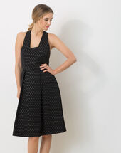 Felicity black ottoman dress black.