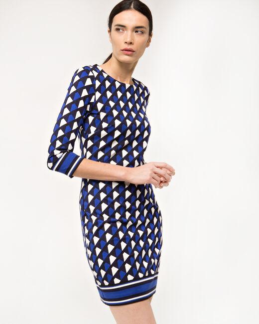 Robe graphique bleue Delila (1) - 1-2-3