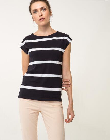 Tee-shirt rayé bleu marine Nil bis (4) - 1-2-3