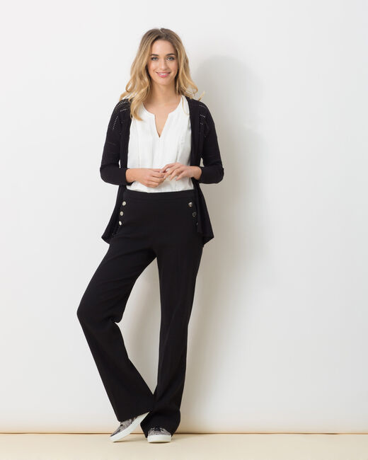 Hoodstock black openwork cardigan (1) - 1-2-3