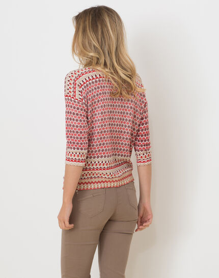 Hammam red printed sweater (4) - 1-2-3