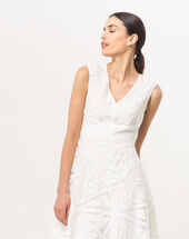 Robe blanche imprimée brendy blanc.