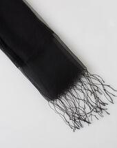 Maeva black silk stole black.