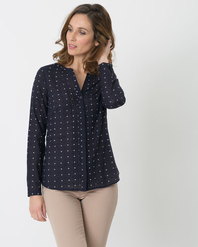 Etoiles navy blue printed shirt (1) - 1-2-3