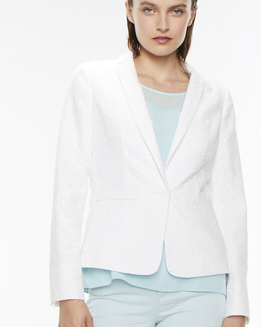 Anglaise white embroidered jacket (2) - 1-2-3