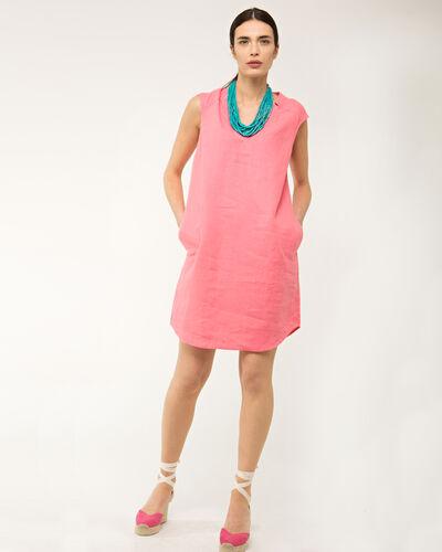 Robe rose en lin Bellini (1) - 1-2-3