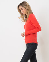 Honorine coral sweater with long sleeves coral.