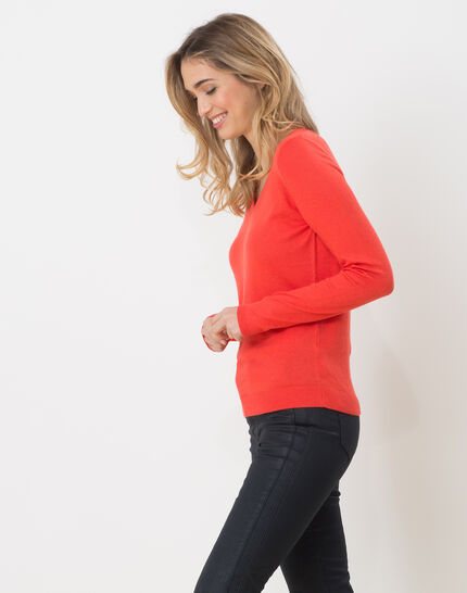 Honorine coral sweater with long sleeves (2) - 1-2-3
