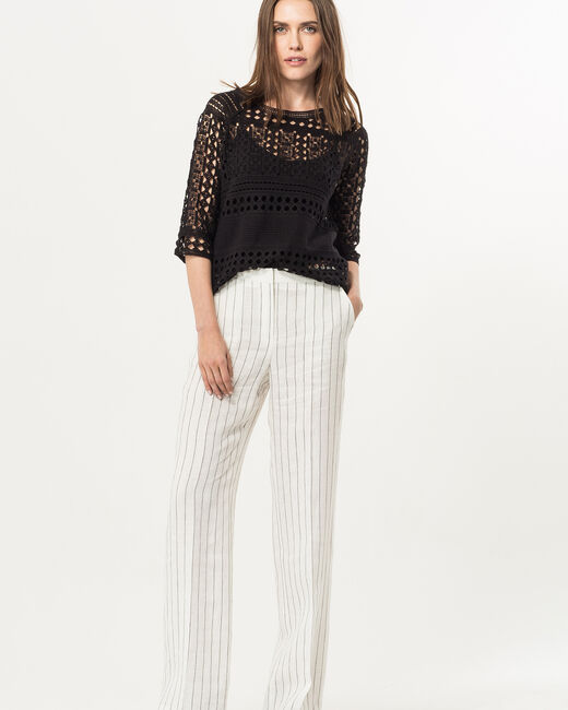 Rainbow striped linen trousers (2) - 1-2-3