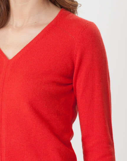 Cashmere sweater in geranium (5) - 1-2-3