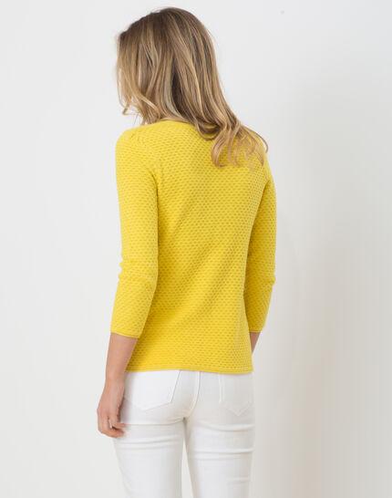 Heidi yellow sweater with stunning stitchwork (3) - 1-2-3