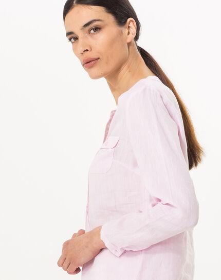 Roma pink linen shirt (3) - 1-2-3