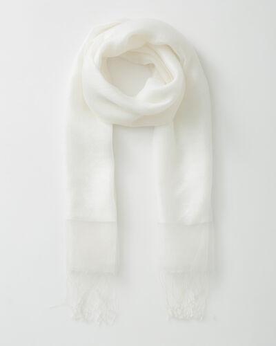 Maeva ecru silk stole (1) - 1-2-3