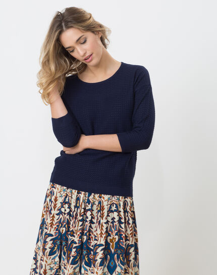 Hélice dark blue sweater with long sleeves PhotoZ | 1-2-3
