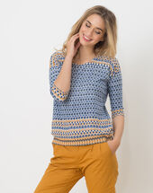 Hammam blue printed sweater sun.