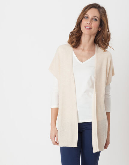 Himalaya beige cape-style cardigan PhotoZ | 1-2-3