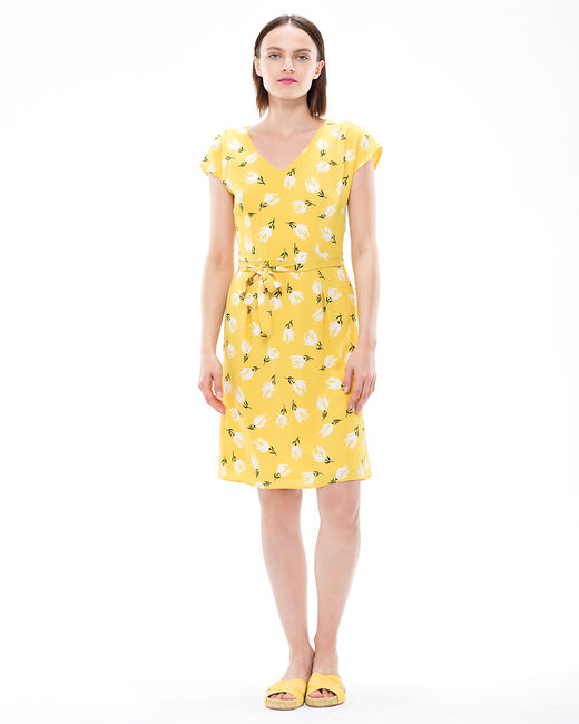 Ontario yellow printed dress (1) - 1-2-3