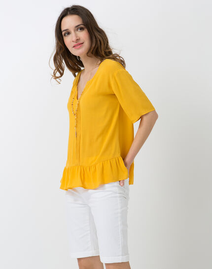 Esmee sunny yellow blouse with pagoda shirt (2) - 1-2-3