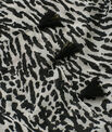 Savana black scarf in animal print PhotoZ   1-2-3
