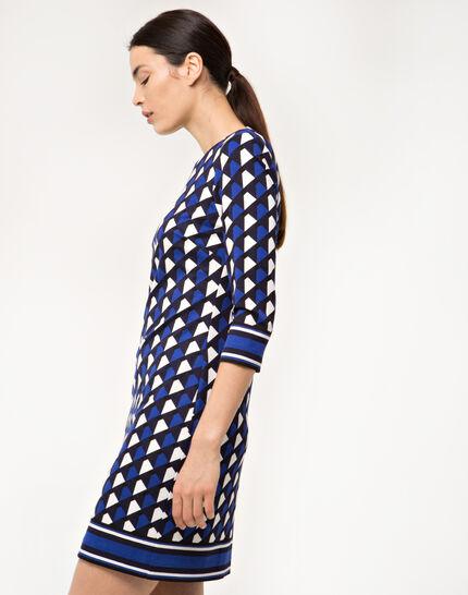 Delila graphic blue dress (4) - 1-2-3