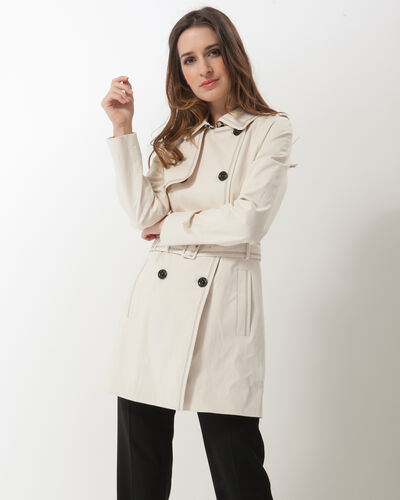 Kali ecru trench with topstitching (2) - 1-2-3