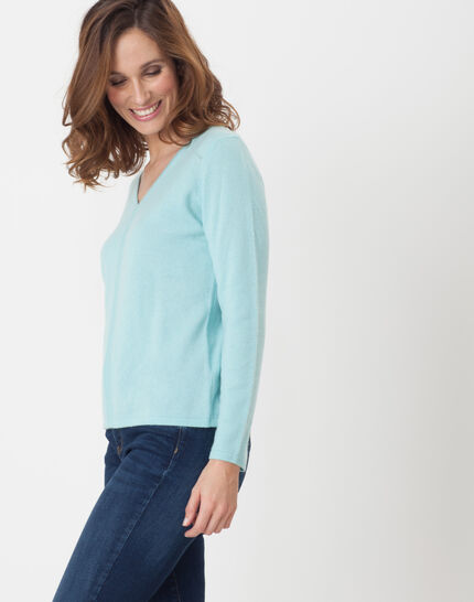 Heart turquoise cashmere sweater (3) - 1-2-3