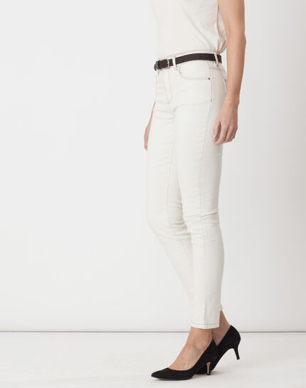 Xandrea 7/8 length cream trousers with belt (3) - 1-2-3