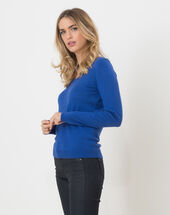 Honorine royal blue sweater with long sleeves royal blue.