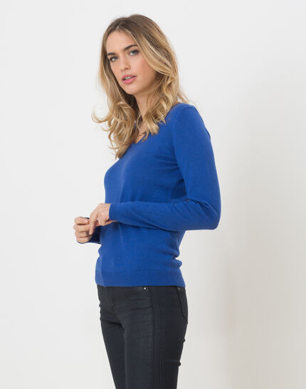 Honorine royal blue sweater with long sleeves PhotoZ | 1-2-3