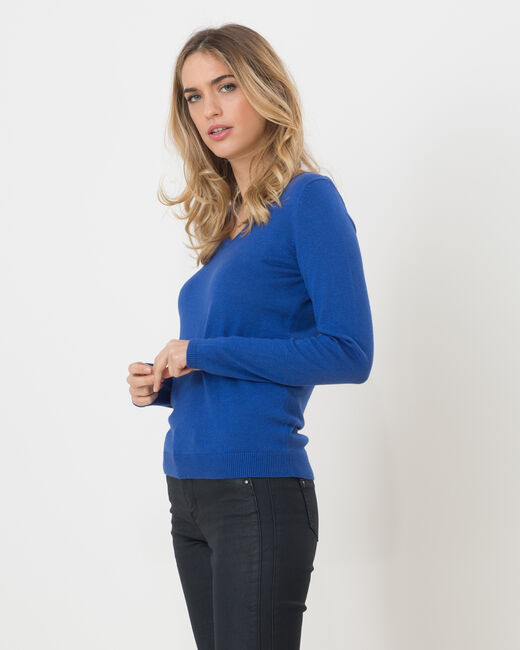 Honorine royal blue sweater with long sleeves (1) - 1-2-3