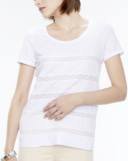 Tee-shirt rayé blanc Nori (2) - 1-2-3