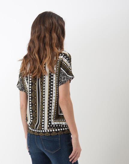 Alix printed wrap-over shirt (4) - 1-2-3
