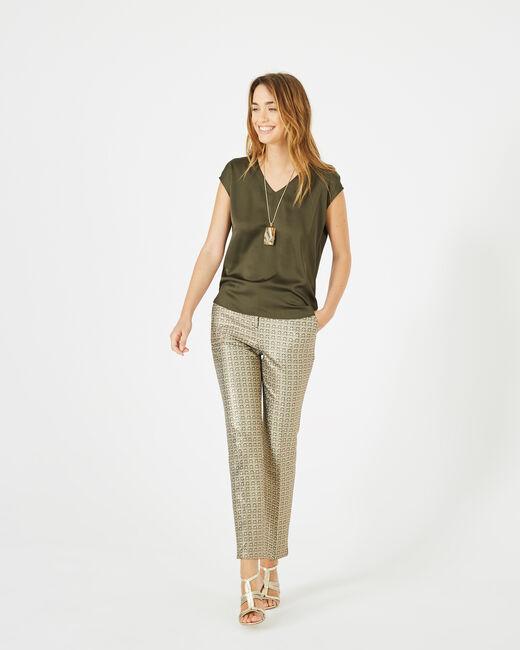 Tee-shirt kaki Blanche (1) - 1-2-3